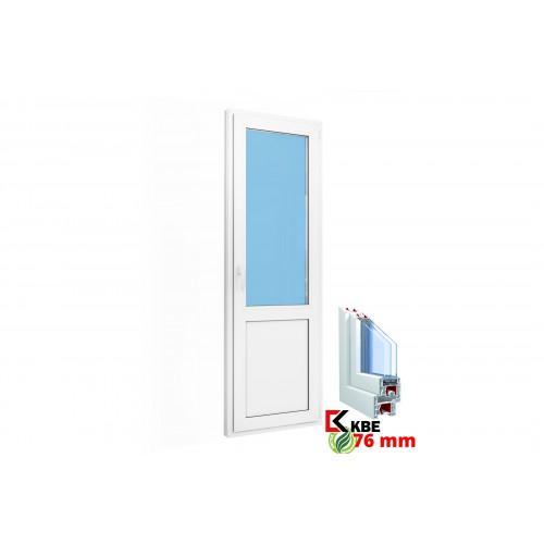 Дверь балконная (сэндвич) 700х2100 KBE 76 мм