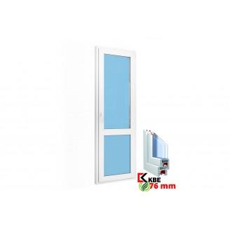 Дверь балконная (стекло) 700х2100 KBE 76 мм