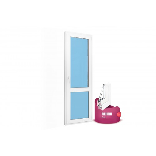 Дверь балконная (стекло) 700х2100 Rehau Blitz new