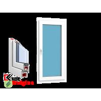 """Окно 1 створка 900 x 1400 """"KBE 58 Белый"""""""