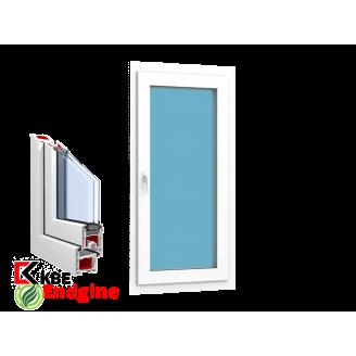 """Окно 1 створка 900 x 1450 """"KBE 58 Белый"""""""